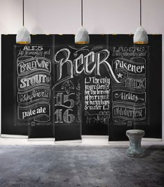 Chalk Board Paint? Could be interesting at work!