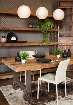 living dining room combo decorating ideas - Internal Home Design Rustic Industrial Furniture, Industrial Chic, Industrial Dining, Vintage Industrial Furniture, Industrial Decorating, Industrial Windows, Industrial Restaurant, Industrial Bedroom, Industrial Shelving