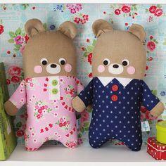 pajama bears   by Retro_Mama