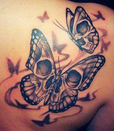 Skull butterfly tattoo: Tattoo Ideas Skulls Skull Tattoo Butterfly ...