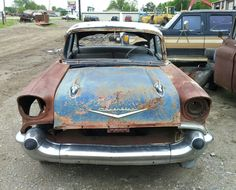 '57 Chevy 2-Door Post Found in a Scrap Metal Yard in Northeast Oklahoma. Tripper's Travels.