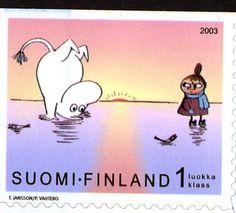 #Suomi, #moomin stamp // :3 ¡Quiero una!