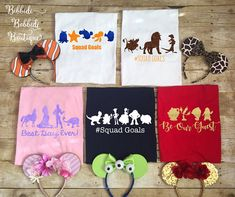 Pick Any Characters Disney Squad Goals Shirt- The perfect Disney family shirts for your Disney vacation- Totally custom Disney Shirt