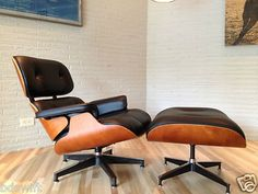 Such a classic Herman Miller Eames lounge chair and ottoman