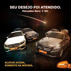 Não precisa mais esperar, a Mercedes-Benz C 180 Avantgarde chegou à MovidaRentACar! Viva essa experiência única! Reserve a sua: www.movida.com.br