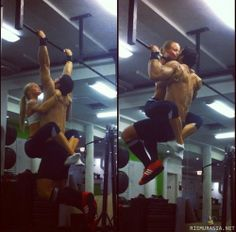 Training as a couple <3.  Only frustrating at a public gym.  Nice for home, where you don't have to leave things unfinished.