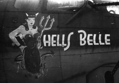 B-17 nose art Hells Belle