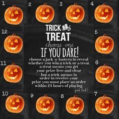 Message me ur number and I'll tell u ur results. Prize numbers have already been predetermined. Good Luck! Paparazzi Accessories Halloween Trick or Treat Game