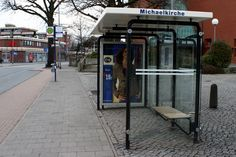 Berlin Bushaltestelle   Stadtbus-Haltestelle in Münster