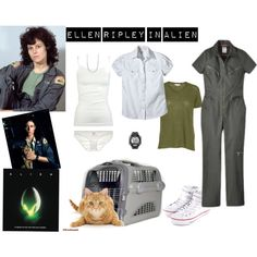 Ellen Ripley in Alien by trixievansickle on Polyvore featuring Dickies, Full Tilt, Only Hearts, Converse, Giani Bernini and Timex