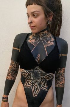 Simple Tattoos For Women, Black Girls With Tattoos, Girl Back Tattoos, Wrist Tattoos For Guys, Black Tattoos, Tattoo Girls, Tribal Forearm Tattoos, Tribal Sleeve Tattoos, Blackout Tattoo
