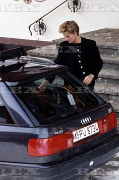 March 30, 1992: a distraught Princess Diana left the ski resort of Lech in Austria on hearing that her father had died.