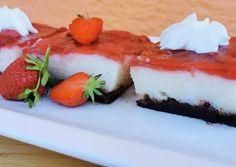 Epres grízes szelet | Krisztike Mohácsi receptje - Cookpad receptek Cheesecake, Desserts, Food, Tailgate Desserts, Deserts, Cheesecakes, Essen, Postres, Meals