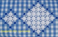 Gingham Lace, Depression Lace, Snowflake Lace, Chicken Scratch Embroidery via NeedleNThread