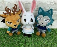 Beastars Legoshi Legosi Chibi Plush Wolf Furry Anime Doll Plushie Zootopia