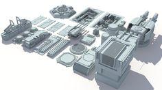 sci fi details greeble scifi 3d max