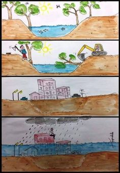 So my 12 year old cousin made this. Bizarre Pictures, Best Funny Pictures, Drawing For Kids, Art For Kids, Social Comics, Make A Timeline, Save Mother Earth, Save Environment, Our Planet Earth