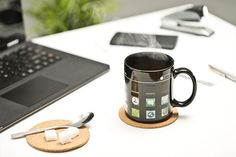 Un produs recomandat din colectia de Cadouri Pentru Ziua De Nastere - Cana cu Aplicatii pentru pasionatii de tehnologie  #incrediblepunctro #cadou #cadouri #cana #cafea #aplicatii #cadouripentruzidenastere The Incredibles, Mugs, Tableware, Dinnerware, Tablewares, Mug, Place Settings