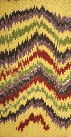 A lovely example of the Ikat influence that is so prevalent in today's designs.
