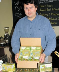 Hobbit Tea! Mint Brook Meadow Teas Ltd., owned by Mennonite farmer Dan Tropea, sells Hobbit Tea, officially trademarked by Middle-earth Enterprises. ~ Wow! This is in Dalton, Ohio, just a short drive for me. How did I not know?