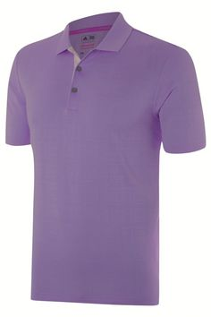 adidas Golf 2015 climacool Grid Texture Men s Golf Polo Shirt - Light Flash Purple Features All-Over Grid Texture Contrast Colour Under-Placket