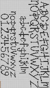 Image result for cross stitch letter pattern cursive