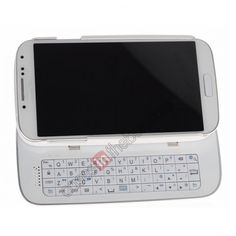 Bluetooth 3.0 Sliding Wireless Keyboard Case cover For Samsung Galaxy S4 i9500 - White US$27.99