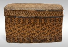 Angola, Democratic Republic of the Congo, or Republic of the Congo  Basketry Storage Container, 18th/19th century  Rattan, wood, and twine 3...