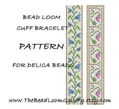 Bead Loom Cuff Bracelet Pattern Vol.21  Bell by thebeadloomgallery, $4.00