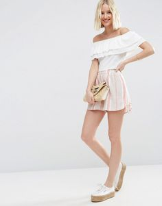 ASOS+Woven+Stripe+Shorts+with+Tie+Hem