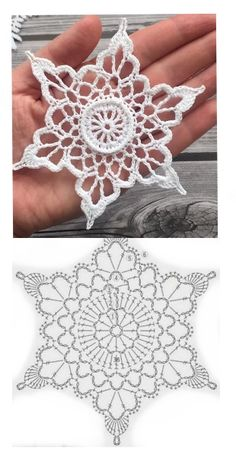 Free Crochet Doily Patterns, Crochet Snowflake Pattern, Christmas Crochet Patterns, Crochet Snowflakes, Crochet Angels, Crochet Stars, Crochet Flowers, Lace Christmas Tree, Crotchet Stitches