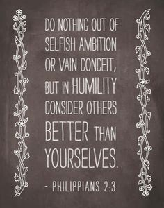 Be Humble and considerate of others