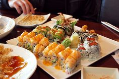 I think I could survive on- sushi.