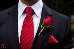 Groom and groomsmen attire - Black, white and red Wedding @ Lord Thompson Manor White Tuxedo Wedding, Red Wedding, Wedding Men, Wedding Groom, Wedding Suits, Wedding Attire, Wedding Colors, Wedding Dress, Cranberry Wedding