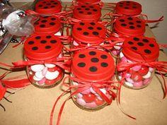 Lady Bug Candy Jars