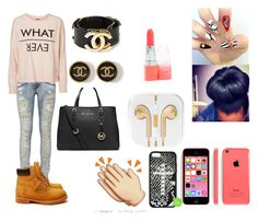 """""""I'll be right by your side till 3005♥"""" by babycakebubbles ❤ liked on Polyvore featuring MICHAEL Michael Kors, Timberland, Vero Moda and Chanel"""