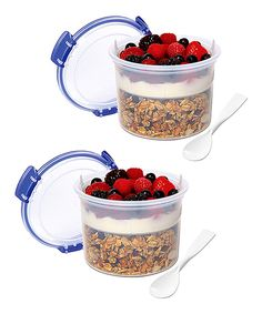 Love this Blue Breakfast-to-Go Container - Set of Two by Sistema on #zulily! #zulilyfinds