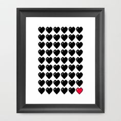 1 Life Left Framed Art Print by The Ghost and Robot - $33.00