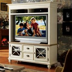 Coventry 58-Inch TV Console and Hutch I Riverside Furniture