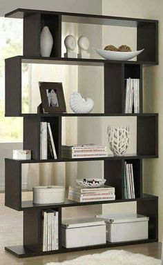 Baxton Studio Samuel Dark Brown/ Espresso Modern Storage Shelf - Overstock Shopping - Great Deals on Baxton Studio Media/Bookshelves Display Shelves, Storage Shelves, Glass Shelves, Book Shelves, Wood Storage, Furniture Storage, Storage Boxes, Vitrine Design, Modern Bookshelf
