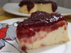 Receita de Cheesecake rápida de ricota com geléia