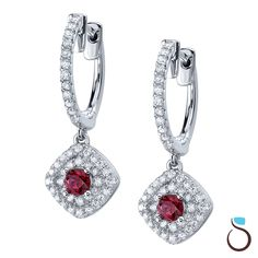 These Ruby & Diamond Earrings from Sylvie would be spectacular under the tree!