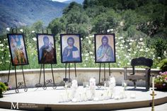 Kat: great idea for outdoor yet catholic church feel Orthodox ceremony at Holman Ranch