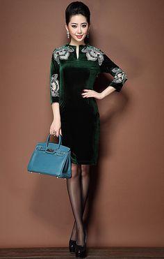 Мягкое и нежное платье из бархата