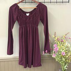 Billabong Tunic Dress Purple empire waist mini legging dress. Long sleeve. Billabong Dresses Long Sleeve