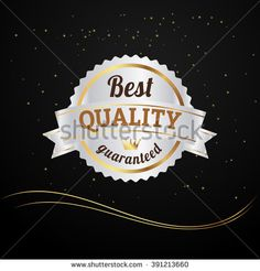 Vector bestseller, premium, quality gold and silver  sign, label template - stock vector