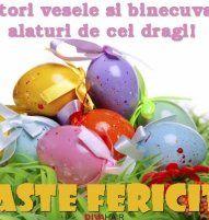 Felicitare de Paste cu oua cu flori Easter Eggs, Paste