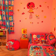 Kids At Home New Giant Lalaloopsy Wall Decals S Pink Bedroom Stickers Toy Room Decor It Now Only 19 99 Princess Pinterest