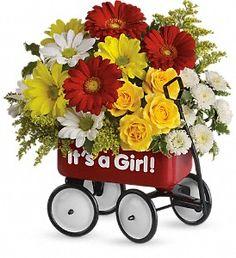 Baby's Wow Wagon by Teleflora - Girl in Brunswick GA, The Flower Basket