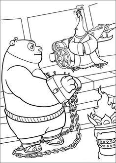 Kung Fu Panda Tegninger til Farvelægning. Printbare Farvelægning for børn. Tegninger til udskriv og farve nº 10